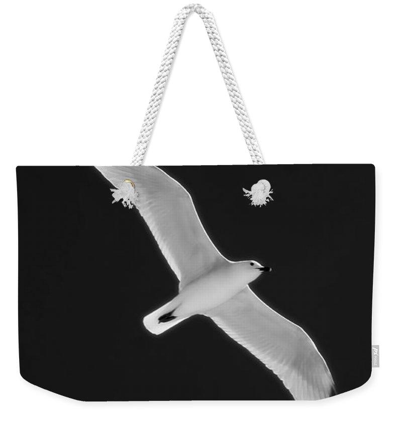Nobody Weekender Tote Bag featuring the photograph Air Angel Bw By Pedro Cardona by Pedro Cardona Llambias