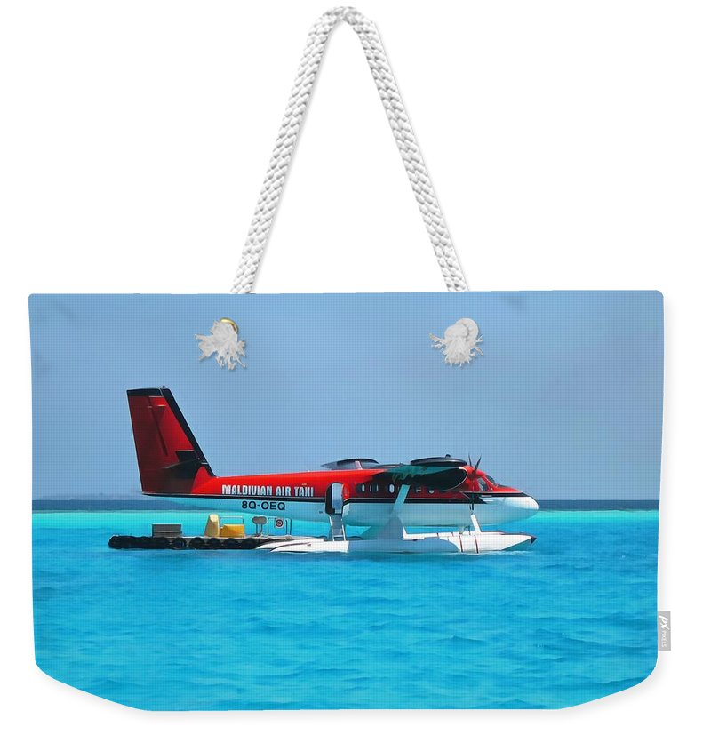Air Taxi Weekender Tote Bag featuring the photograph Hydroplane by Sergey Lukashin