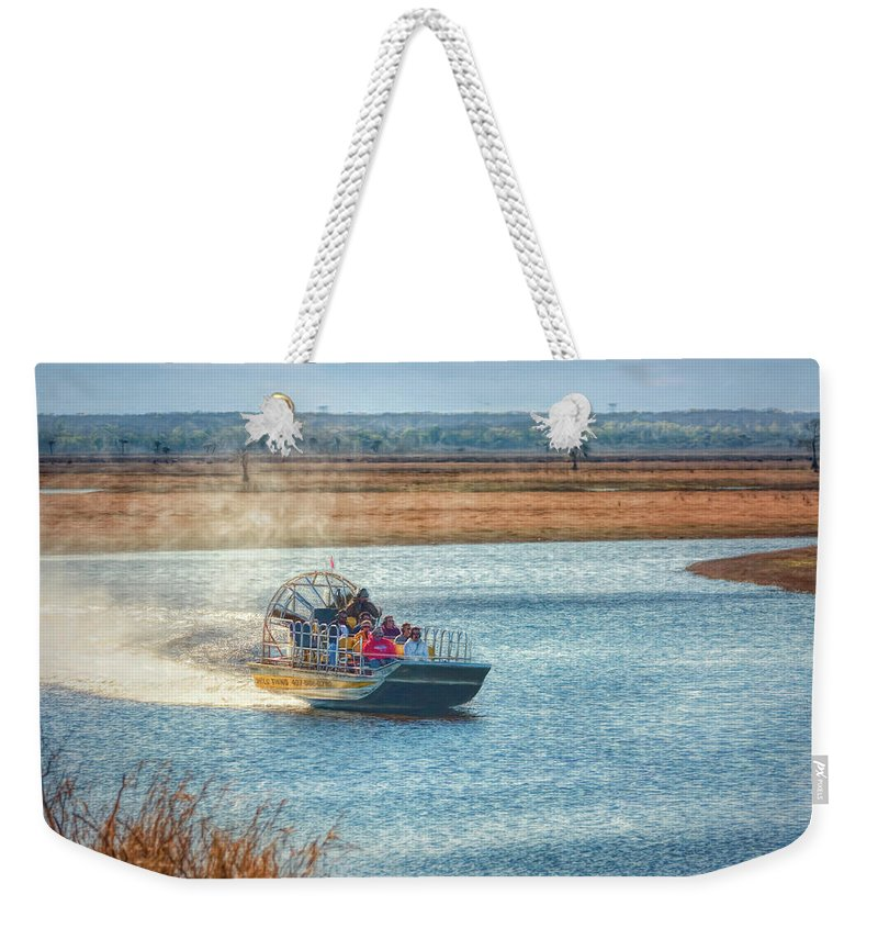 Adventure Weekender Tote Bag featuring the photograph Airboat Rides by John M Bailey