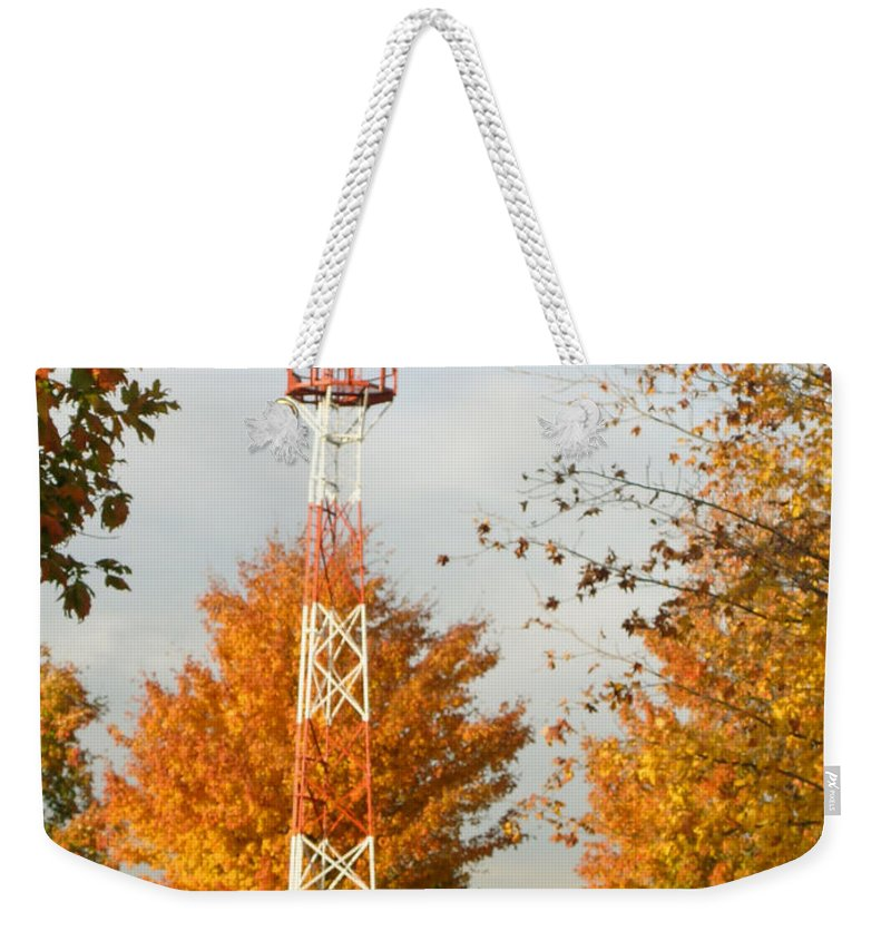 Airport Weekender Tote Bag featuring the photograph Airport Tower by Douglas Barnett