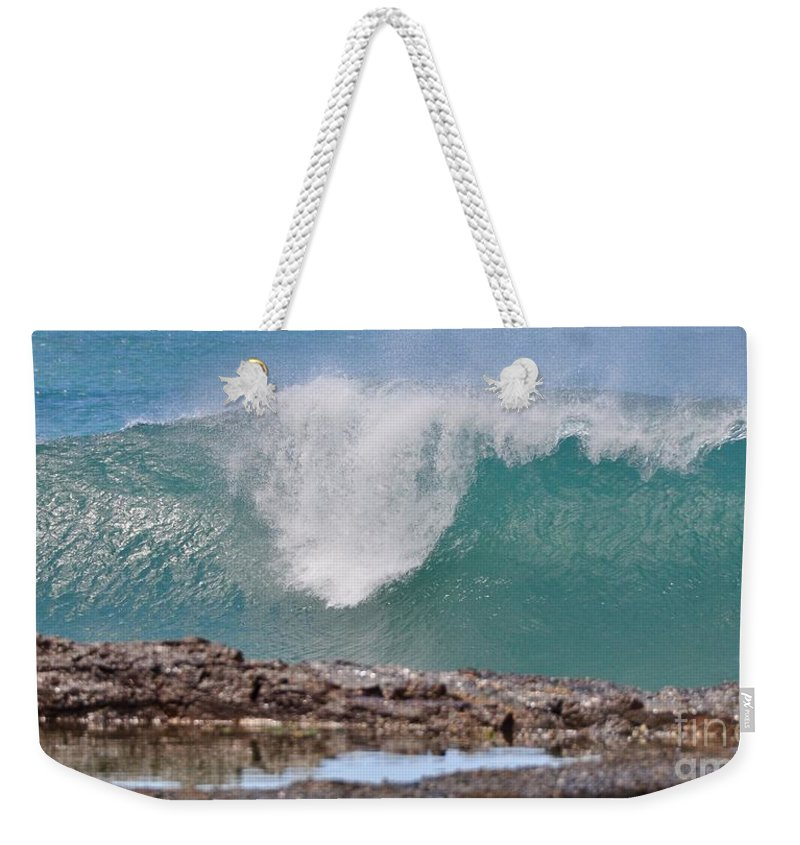 Gold Coast Weekender Tote Bag featuring the photograph Akaw by Csilla Florida