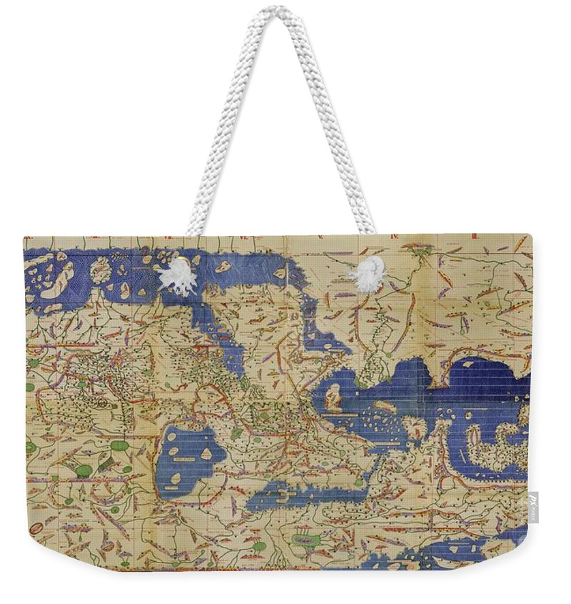 Al idrisi world map 1154 weekender tote bag for sale by spl and 1100s weekender tote bag featuring the photograph al idrisi world map 1154 by spl and photo gumiabroncs Image collections
