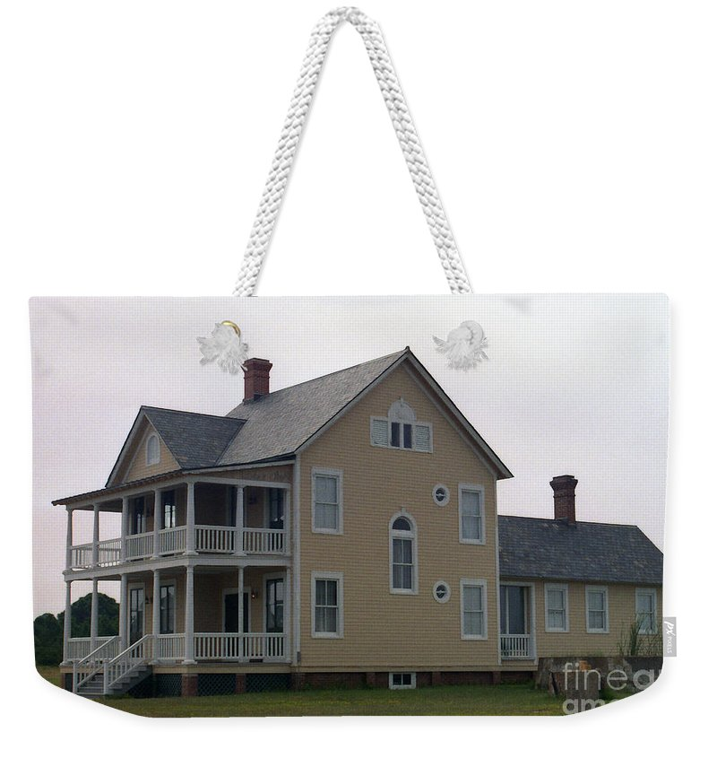 Alabama Weekender Tote Bag featuring the digital art Alabama Coastal Home by Richard Rizzo
