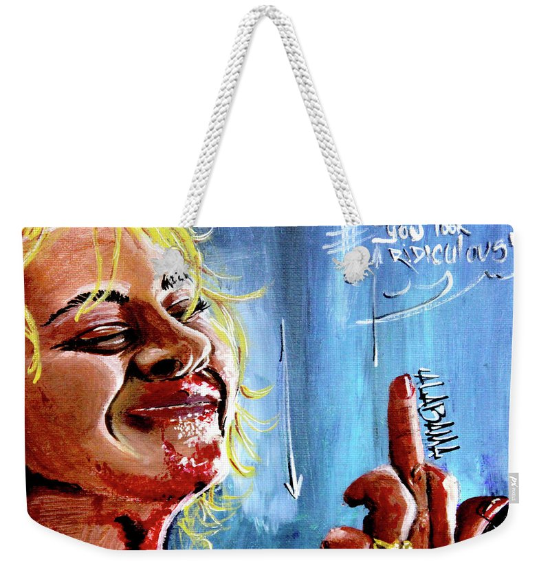 Films Weekender Tote Bag featuring the painting Alabama by eVol i