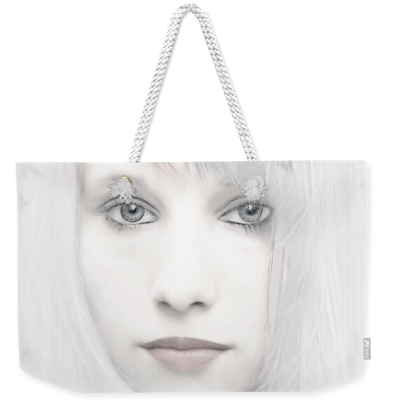 Woman Weekender Tote Bag featuring the photograph Alabaster-face by Joachim G Pinkawa