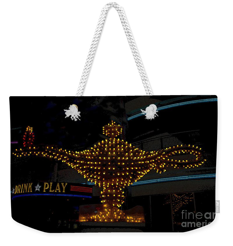 Art Weekender Tote Bag featuring the painting Aladdin Las Vegas by David Lee Thompson