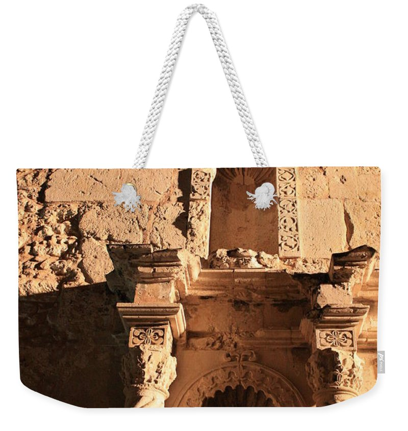 Alamo Weekender Tote Bag featuring the photograph Alamo Shadows by Carol Groenen