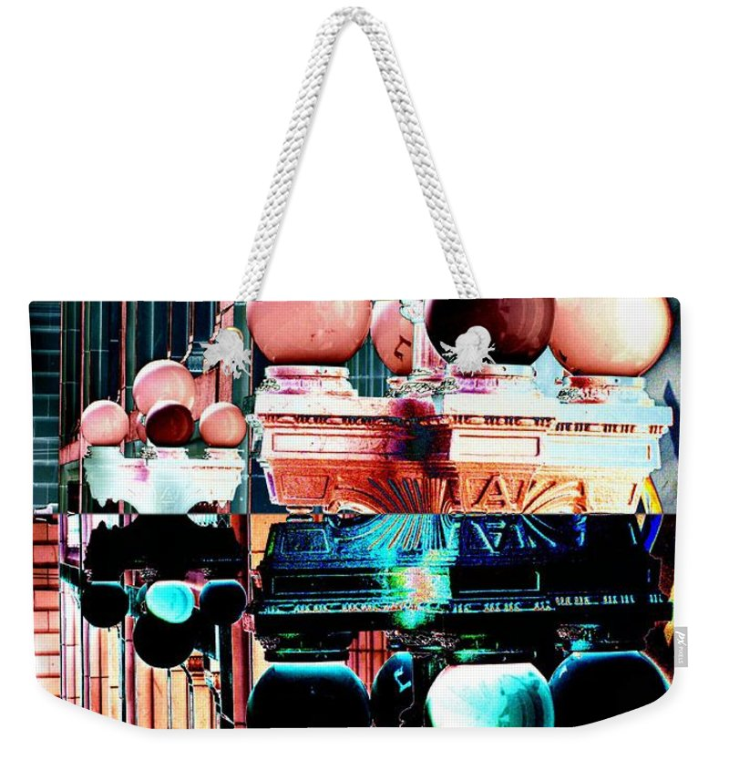 Seattle Weekender Tote Bag featuring the photograph Alaska Building Lights by Tim Allen