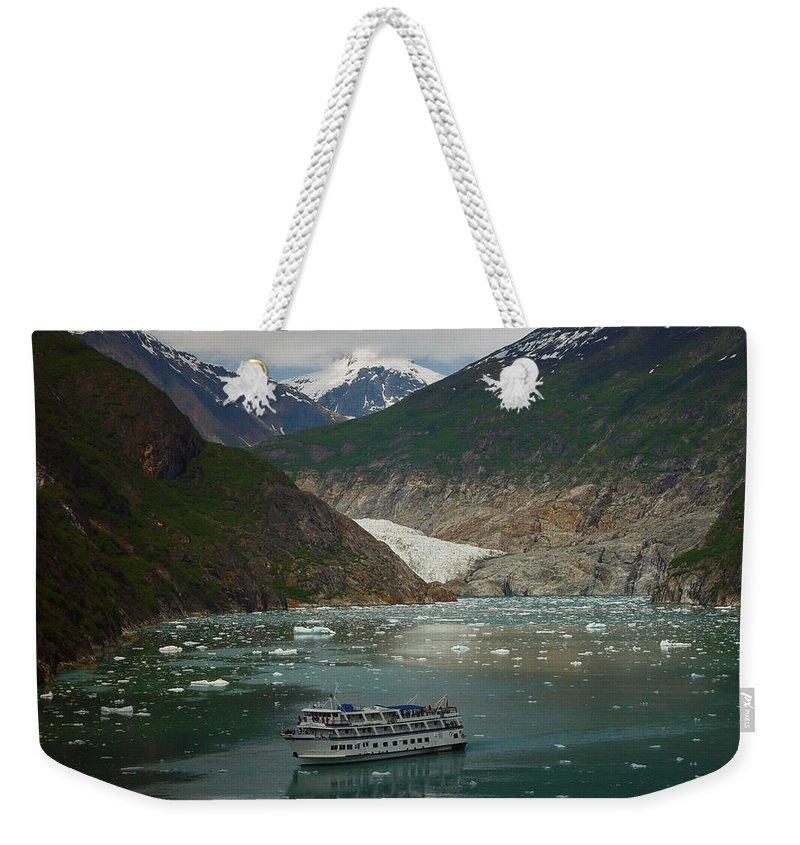 Alaska Weekender Tote Bag featuring the photograph Alaska Endicott Glacier by Heather Coen