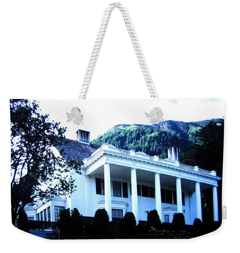 Alaska Weekender Tote Bag featuring the photograph Alaska Governors Mansion by Will Borden