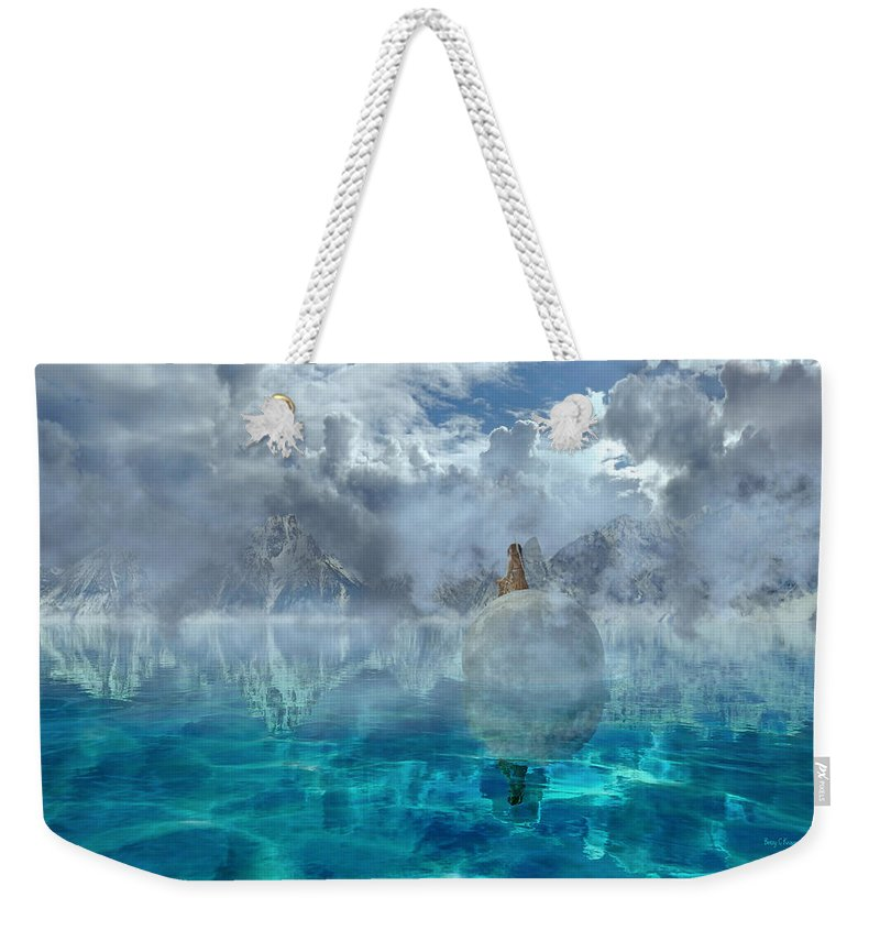 3d Weekender Tote Bag featuring the digital art Alaskan Avalon by Betsy Knapp