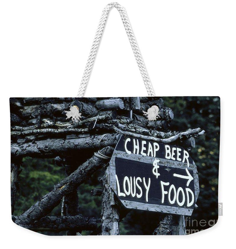 Bronstein Weekender Tote Bag featuring the photograph Alaskan Charm by Sandra Bronstein