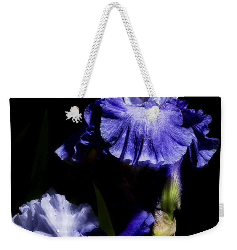Agriculture Weekender Tote Bag featuring the photograph Alaskan Seas Iris by John Trax