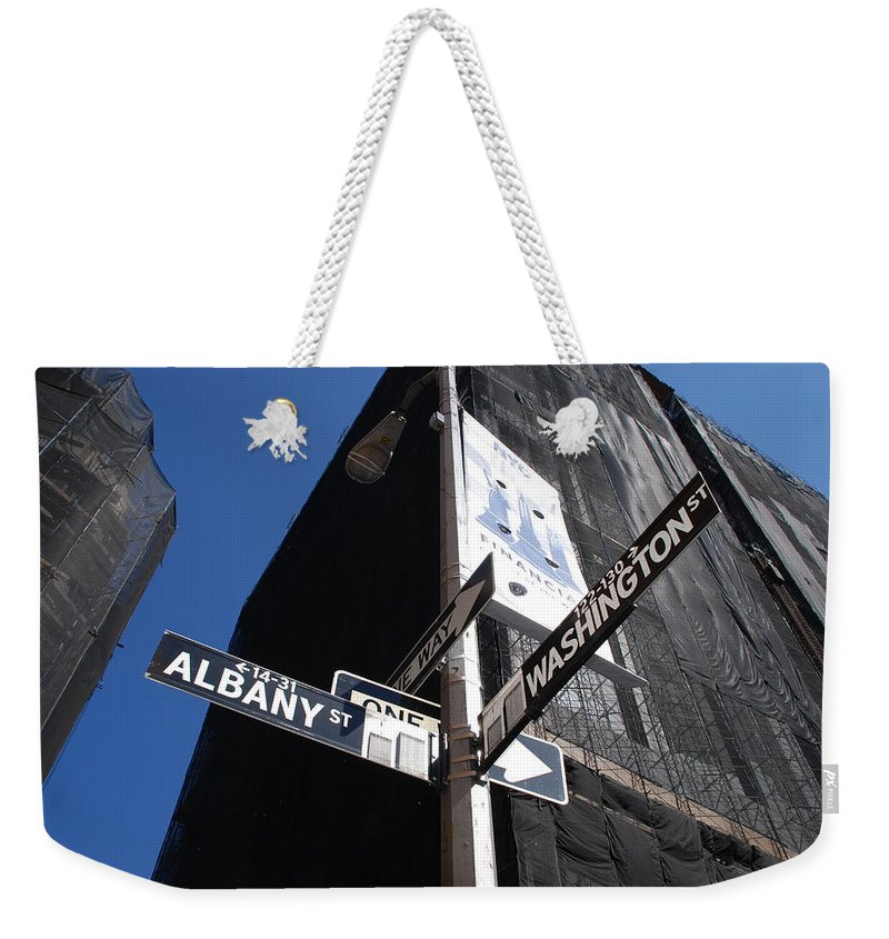 Architecture Weekender Tote Bag featuring the photograph Albany And Washington by Rob Hans