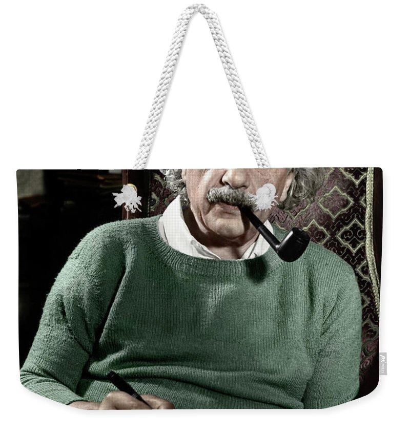 1940 Weekender Tote Bag featuring the photograph Albert Einstein by Granger