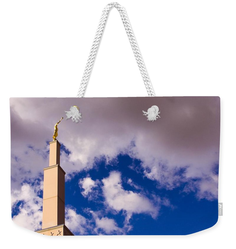 Weekender Tote Bag featuring the photograph Albuquerque's Temple by Quinn James