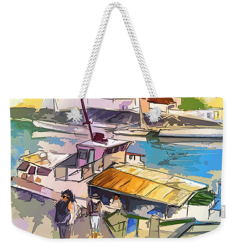 Art Weekender Tote Bag featuring the painting Alcoutim In Portugal 05 Bis by Miki De Goodaboom
