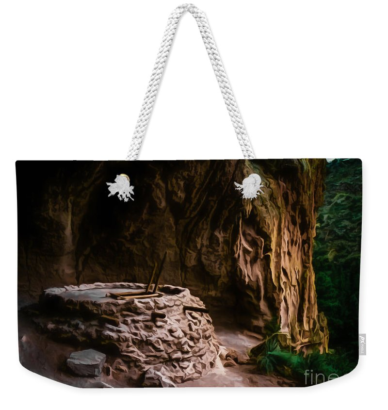 Alcove House Weekender Tote Bag featuring the photograph Alcove House by Jon Burch Photography