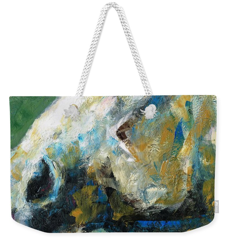 Horses Weekender Tote Bag featuring the painting Alerted by Frances Marino