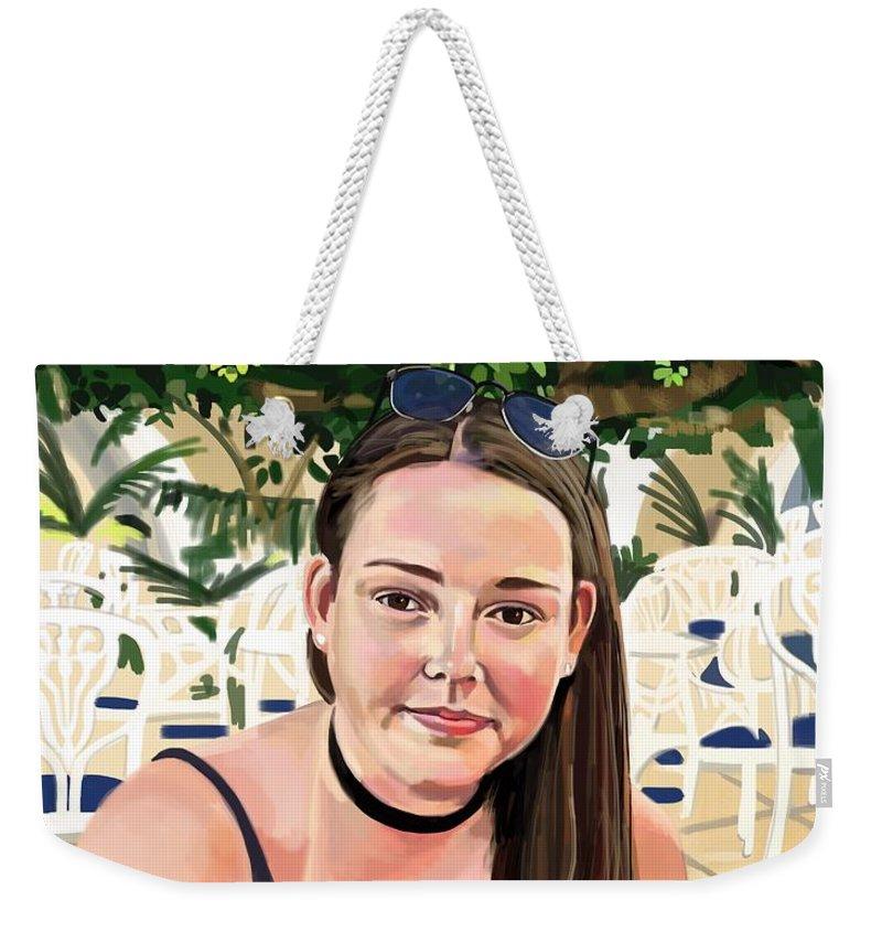 Portrait Weekender Tote Bag featuring the digital art Alex by Plum Ovelgonne