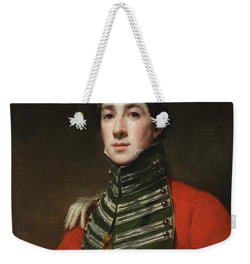 Sir Henry Raeburn Scottish 1756 - 1823 Captain Alexander Dirom Weekender Tote Bag featuring the painting Alexander Dirom by Sir Henry Raeburn Scottish