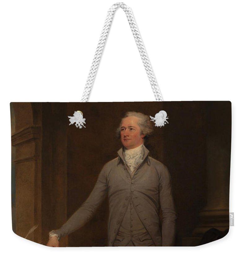 123bcbbd4da3 Alexander Hamilton Weekender Tote Bag featuring the painting Alexander  Hamilton Full-length Portrait by War