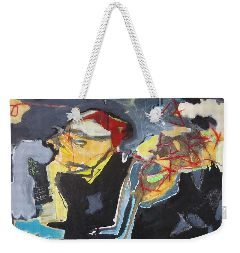 Abstract Paintings Weekender Tote Bag featuring the painting Alexander Trail by Seon-Jeong Kim
