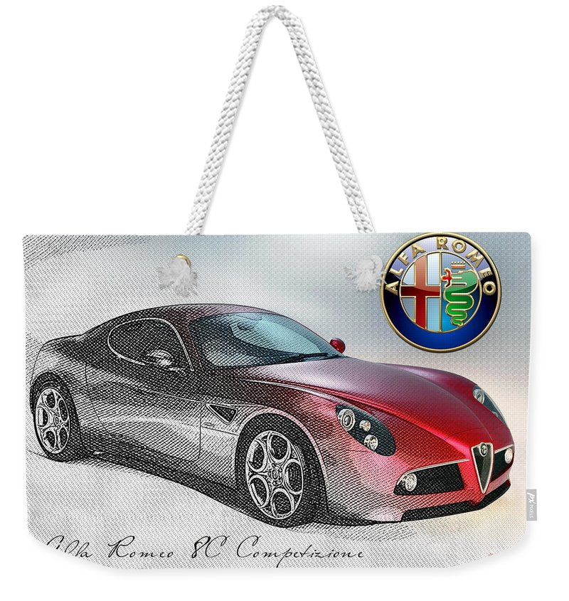 Wheels Of Fortune By Serge Averbukh Weekender Tote Bag featuring the photograph Alfa Romeo 8C Competizione by Serge Averbukh