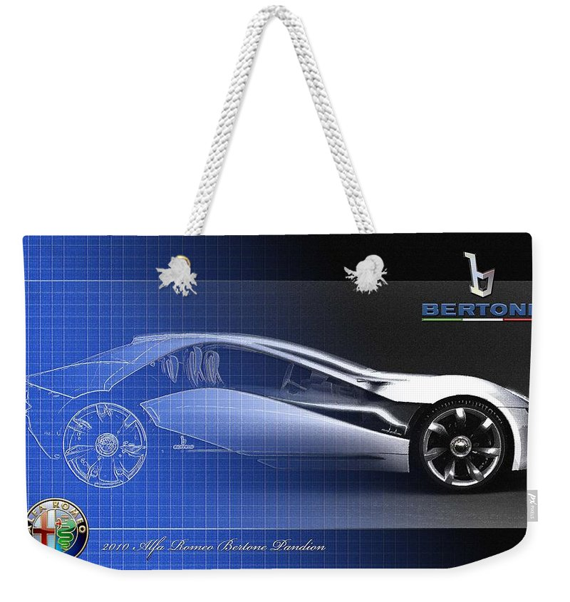 Wheels Of Fortune By Serge Averbukh Weekender Tote Bag featuring the photograph Alfa Romeo Bertone Pandion Concept by Serge Averbukh