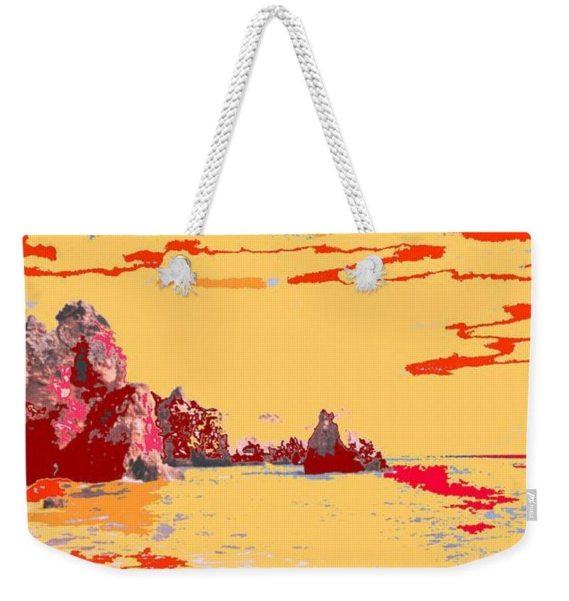 Mediterranean Weekender Tote Bag featuring the photograph Algarve Sunrise by Ian MacDonald