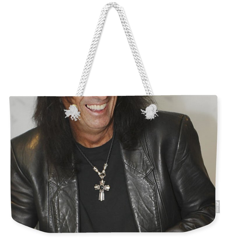 Alice Cooper Weekender Tote Bag featuring the photograph Alice Cooper Happy by Jill Reger