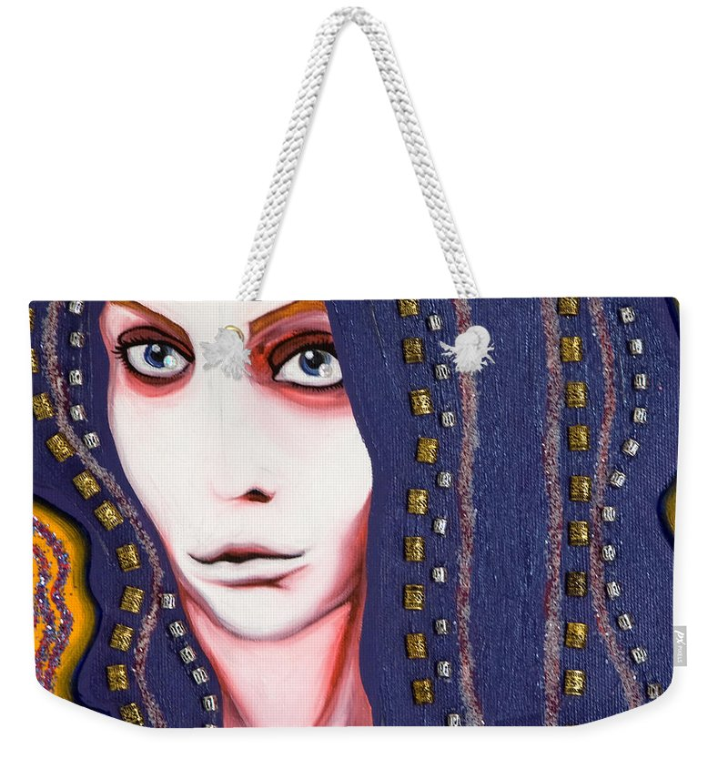 Woman Weekender Tote Bag featuring the painting Alice by Sheridan Furrer