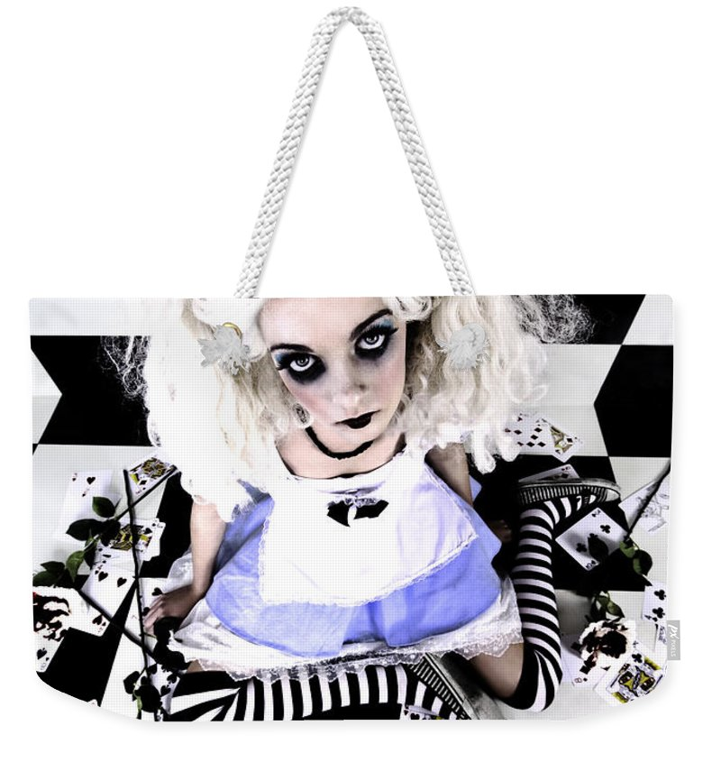 Alice In Wonderland Weekender Tote Bag featuring the photograph Alice1 by Kelly Jade King