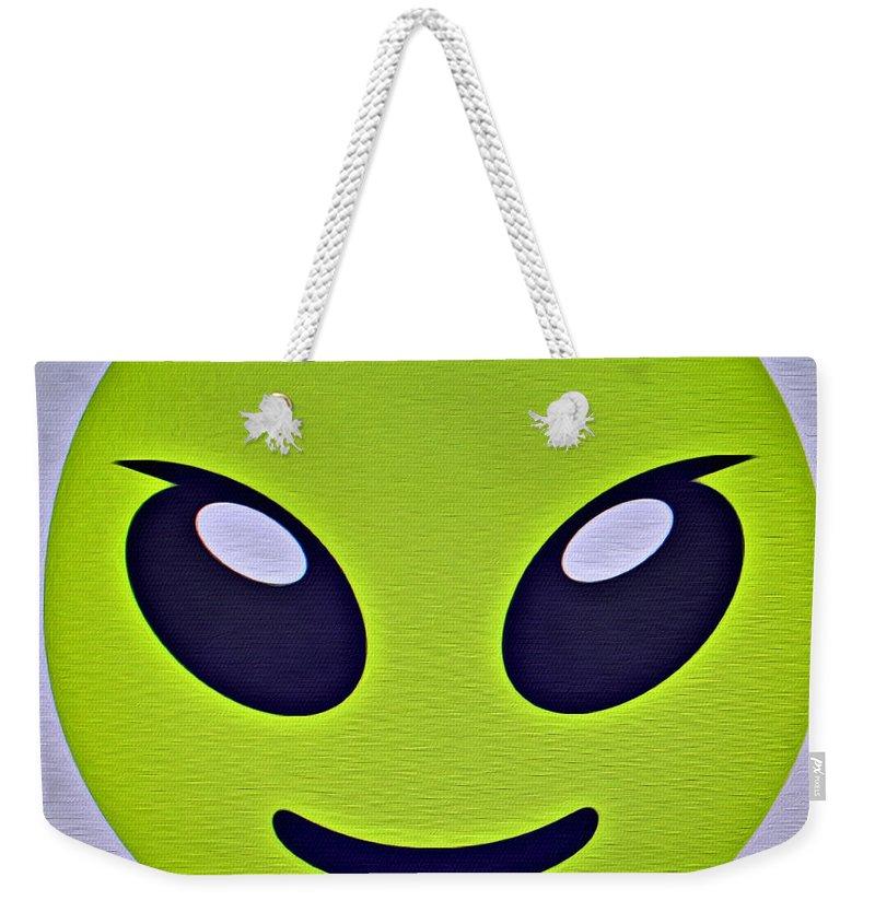 Alien Emoji Weekender Tote Bag