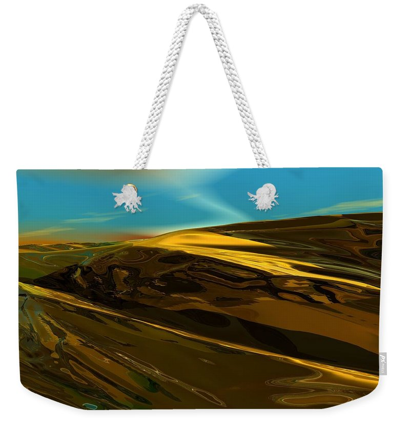 Landscape Weekender Tote Bag featuring the digital art Alien Landscape 2-28-09 by David Lane