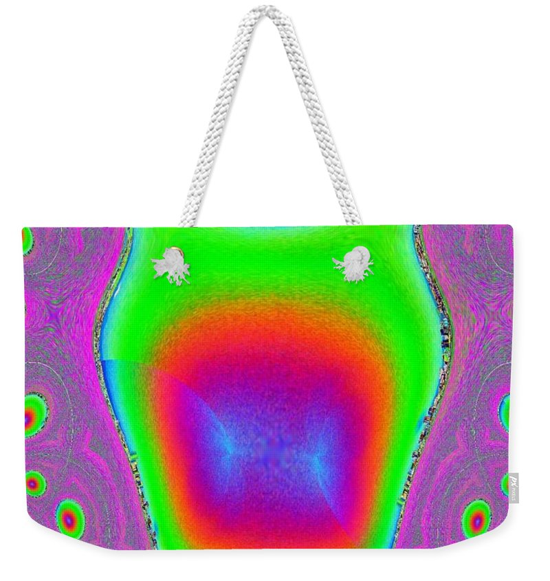 Fractal Weekender Tote Bag featuring the photograph Alien Scream by Tim Allen