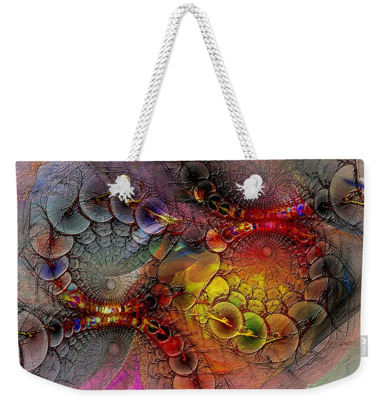 Alien Tundra Weekender Tote Bag featuring the digital art Alien Tundra by John Beck