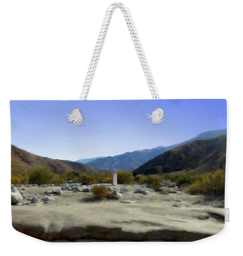 Desert Weekender Tote Bag featuring the digital art Alignment by Snake Jagger
