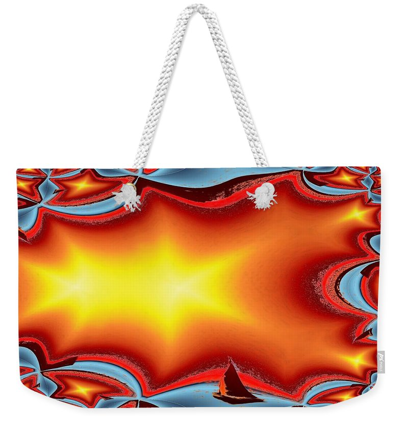 Sail Weekender Tote Bag featuring the photograph Alki Sail Under The Sun by Tim Allen