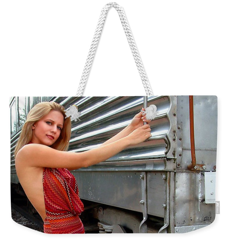 Glamour Weekender Tote Bag featuring the photograph All Aboard by John Dauer