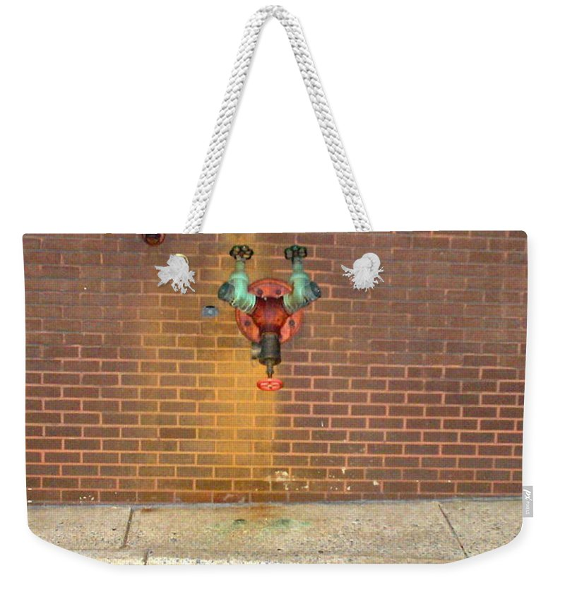 Photograph Weekender Tote Bag featuring the photograph All Alone Pipe by Thomas Valentine