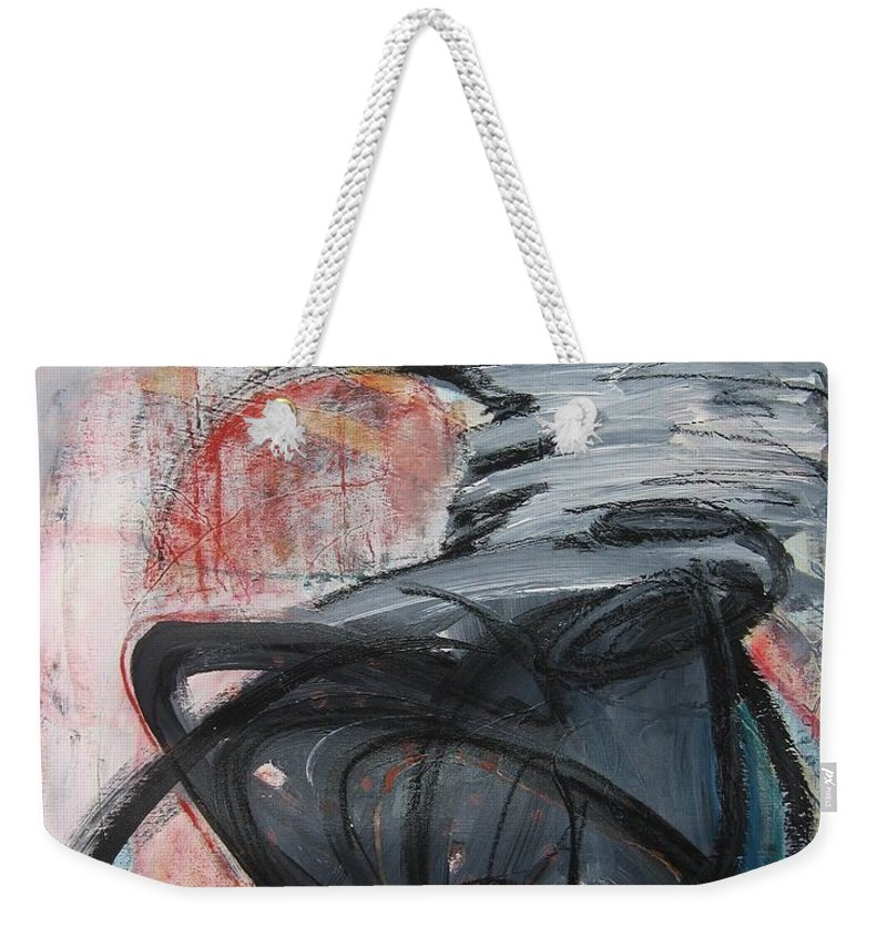 Abstract Paintings Paintings Weekender Tote Bag featuring the painting All Alone by Seon-Jeong Kim