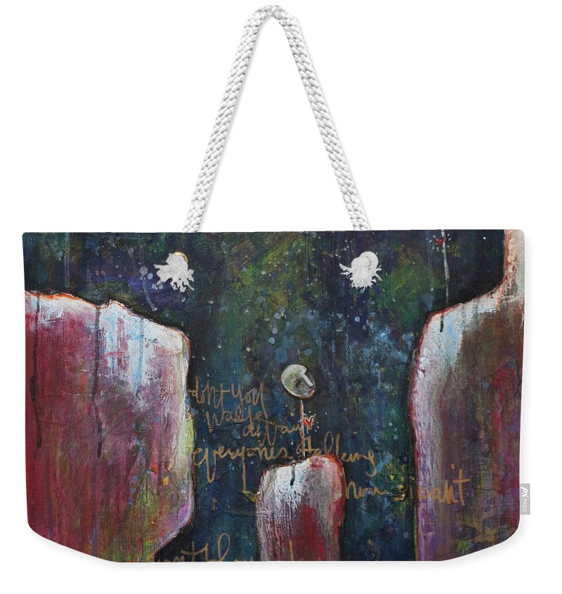 Lollipop Art Weekender Tote Bag featuring the painting All I Wanted by Laurie Maves ART