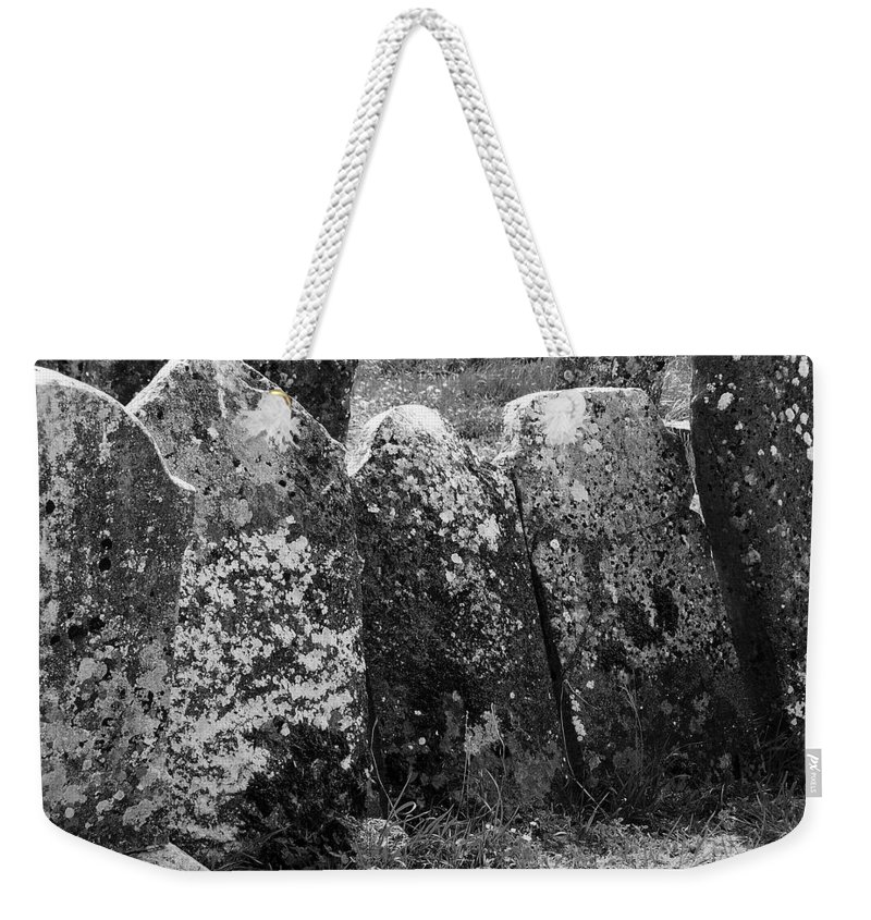 Ireland Weekender Tote Bag featuring the photograph All In A Row At Fuerty Cemetery Roscommon Ireland by Teresa Mucha