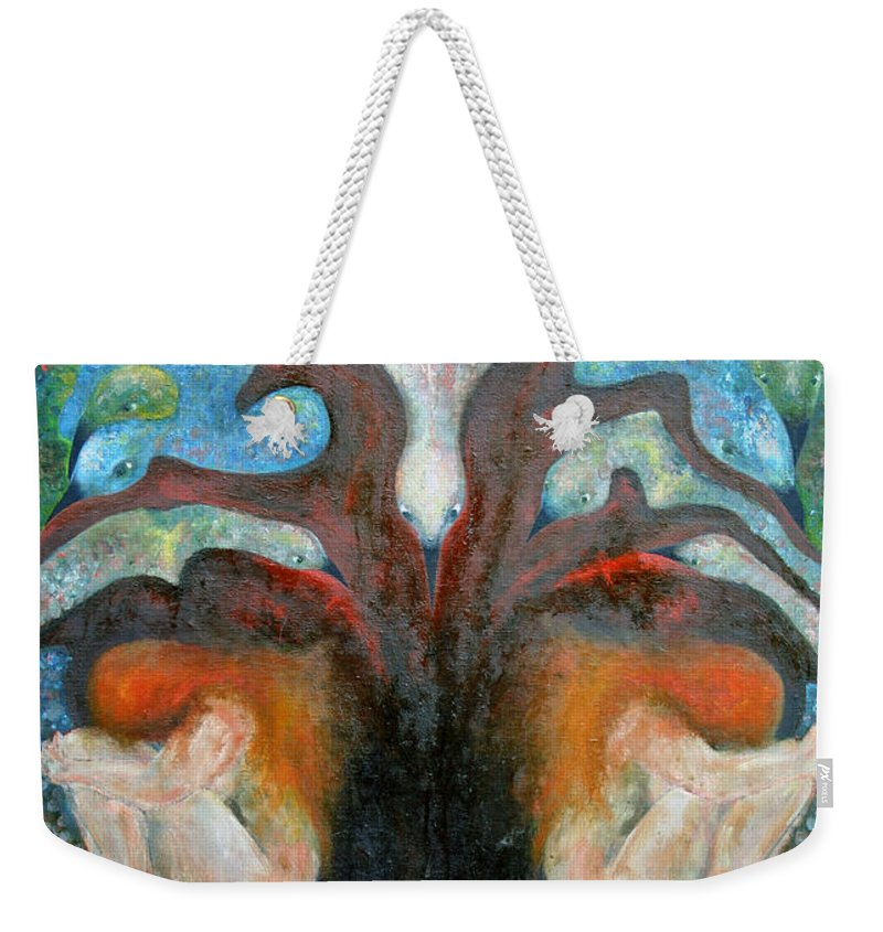 Imagination Weekender Tote Bag featuring the painting All Is The Whole by Wojtek Kowalski