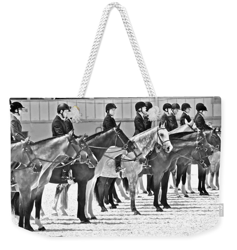 Alicegipsonphotographs Weekender Tote Bag featuring the photograph All Lined Up by Alice Gipson
