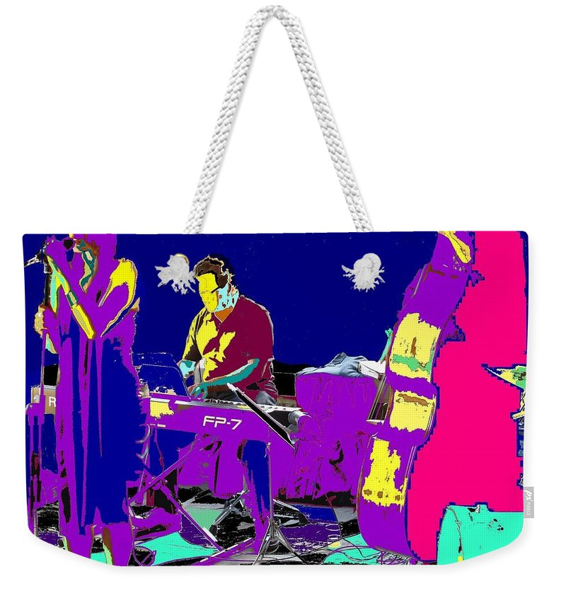Singer Weekender Tote Bag featuring the photograph All That Jazz by Ian MacDonald