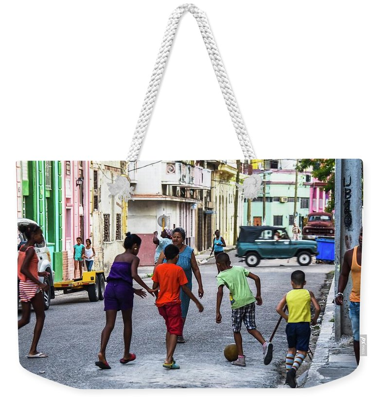 Cuba Weekender Tote Bag featuring the photograph All The Colors Of The Rainbow by Rand