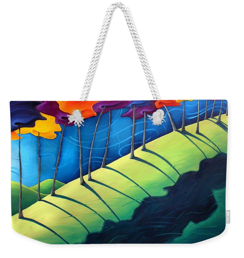 Landscape Weekender Tote Bag featuring the painting All The Same In The End by Richard Hoedl