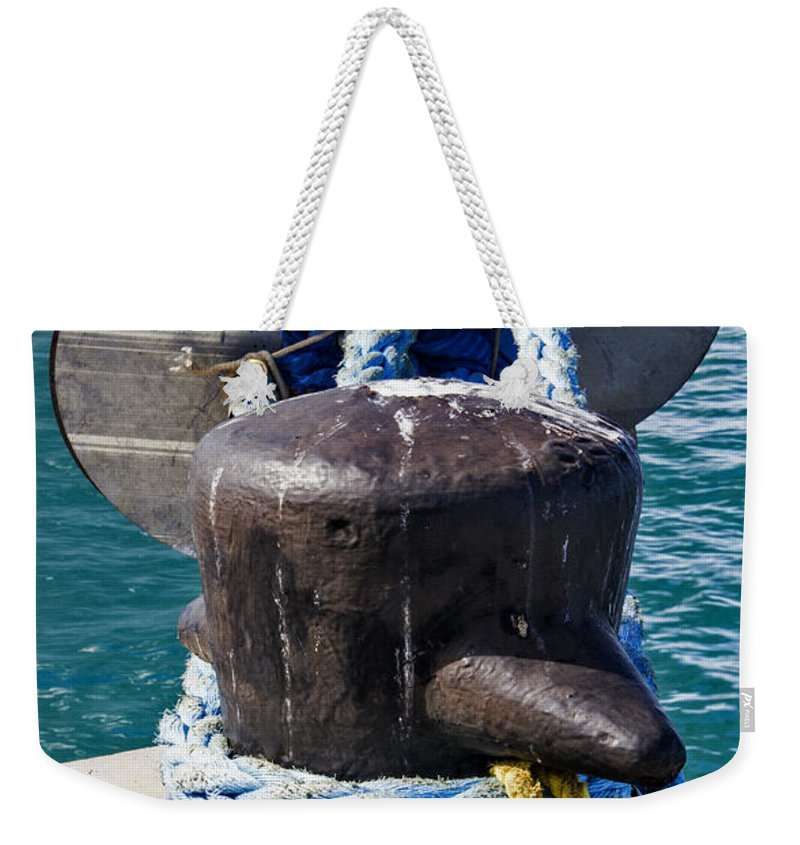 Rope Weekender Tote Bag featuring the photograph All Tied Up by Bob Slitzan